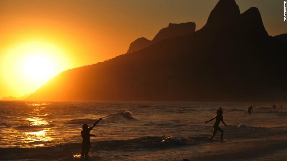 Catch the sunset in Ipanema, Rio de Janeiro.