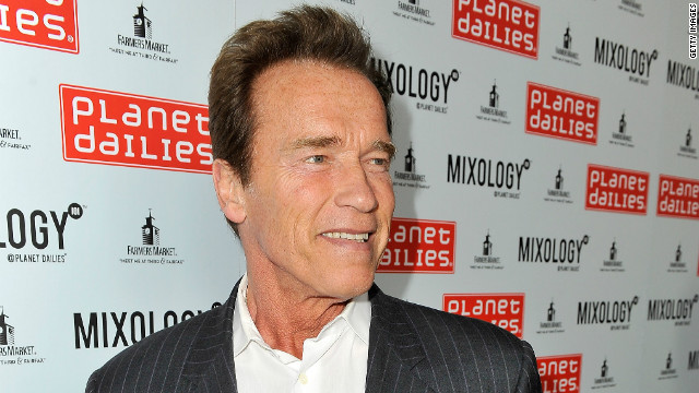 Former Governor of California/actor Arnold Schwarzenegger attends the Grand Opening of Robert Earl's Planet Dailies & Mixology 101 at The Farmer's Market on April 5, 2012 in Los Angeles, California