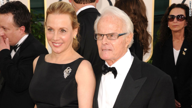 Producers Richard and Lili Zanuck arrive at the Golden Globe Awards in 2011.