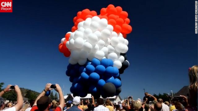 Weather cuts short balloon chair flight