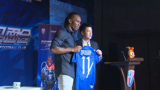 Didier Drogba welcomed to China