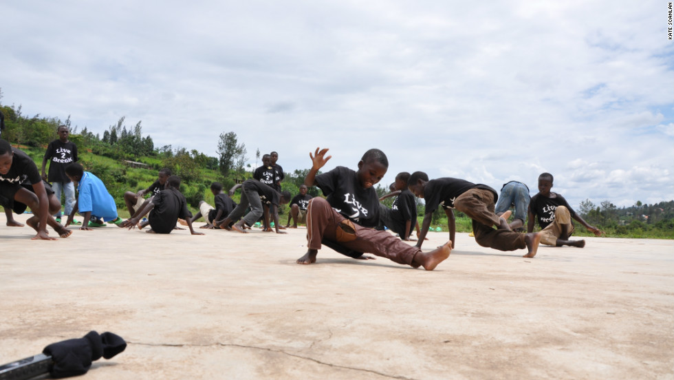 "UK-based group Catalyst Rwanda has teamed up with Les Enfants De Dieu, a residental care center for street children in Rwanda, to teach the kids how to ""break"" -- hip-hop's original dance form."