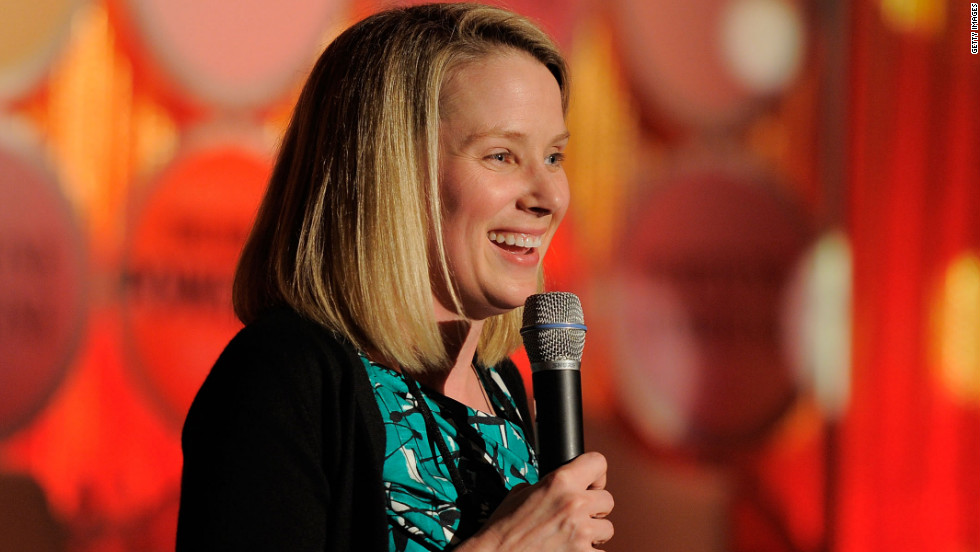 Mayer speaks onstage at the FORTUNE Most Powerful Women Dinner  in New York City in May 2011.  She was Google's vice president of consumer products at the time.