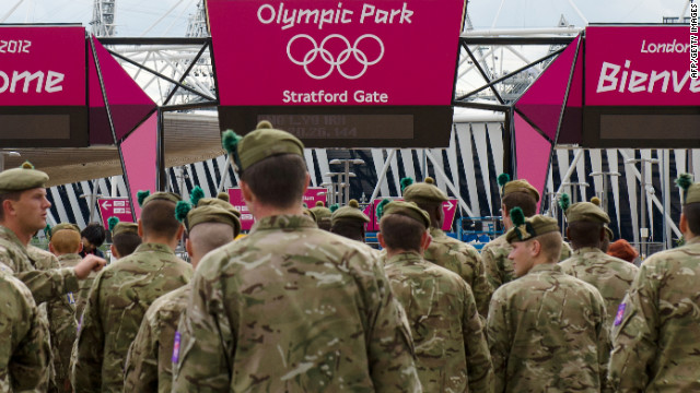 Members of Britian's armed forces were brought in to assist with security after the G4S group admitted they would not be able to provide the number of security forces need for the games.