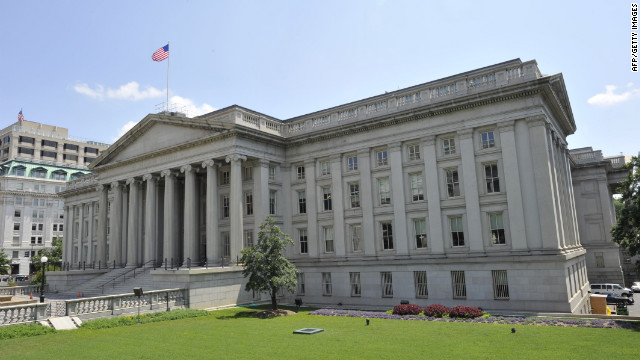The Treasury Department building in Washington, D.C.
