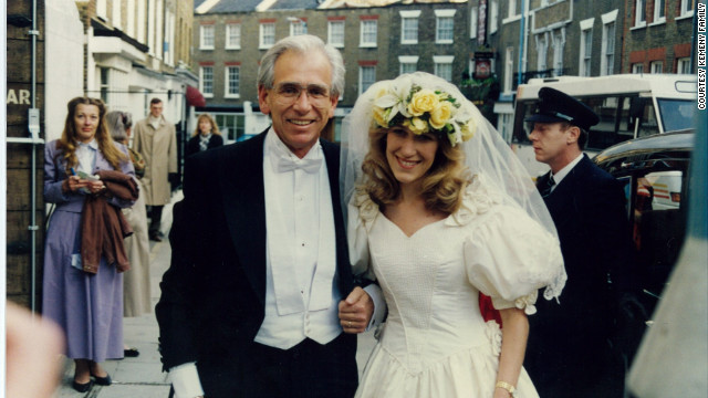Tom Kemeny poses with his daughter Eva Louise on her wedding day.