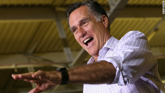 Mitt Romney addresses a campaign rally Tuesday at Horizontal Wireline Services in Irwin, Pennsylvania.