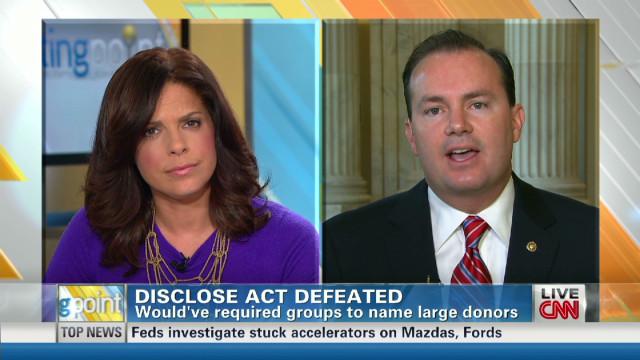 Lee on Disclose Act failure in Senate