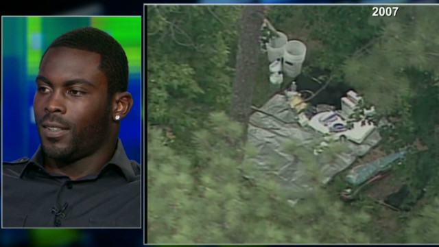 Vick was playing golf during police raid