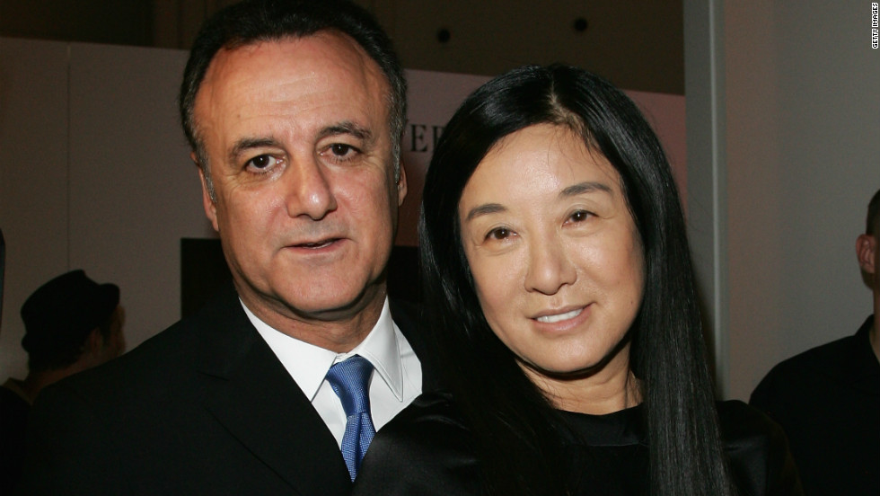 Vera Wang and Arthur Becker attend the launch of Wang's Princess perfume in 2008 in Berlin.