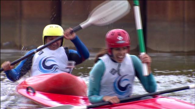 Team CNN canoe wipe out