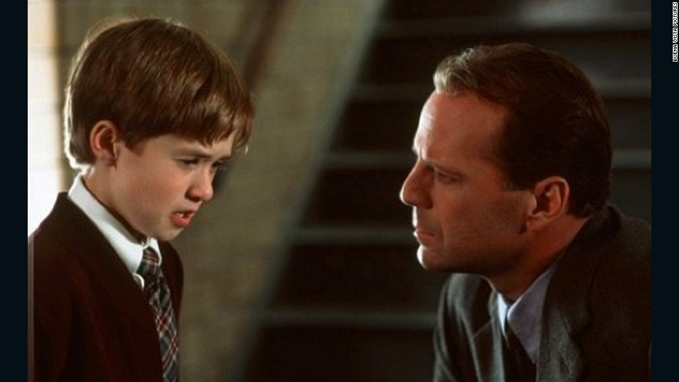 "When it comes to mind-blowing plot twists, this M. Night Shyamalan psychological horror film is a classic. ""The Six Sense"" tells the story of child psychologist Malcolm Crowe (Bruce Willis), who takes on an 8-year-old patient (Haley Joel Osment) who claims to ""see dead people."" Instead of being afraid of these ghosts, Crowe suggests the boy communicate with the spirits and help them with their unfinished business on Earth. Osment's character is able to provide some ghosts with the closure they need, and Crowe is happy to see the boy find a purpose for his gift. But viewers soon learn that Crowe is not only a satisfied spectator; Crowe is a ghost himself."
