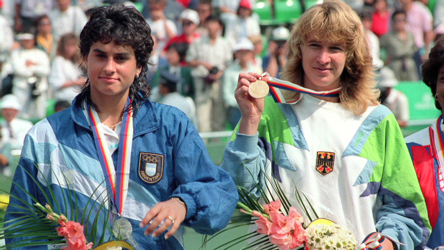 Steffi Graf and Andre Agassi on Olympics