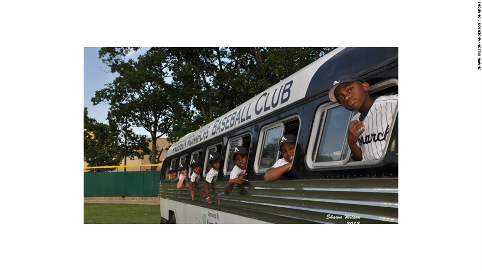 "The team traveled cross-country aboard a vintage 1947 Flxible Clipper touring bus to honor the pioneers of baseball  (1947 marks the year Jackie Robinson broke the color barrier in Major League Baseball).  Myles Eaddy said he didn't want the trip to end, even if things got a little sticky on the non-air-conditioned bus.   ""I would like to stay on the bus every day, that's how much history that bus has,"" the 10-year-old said."
