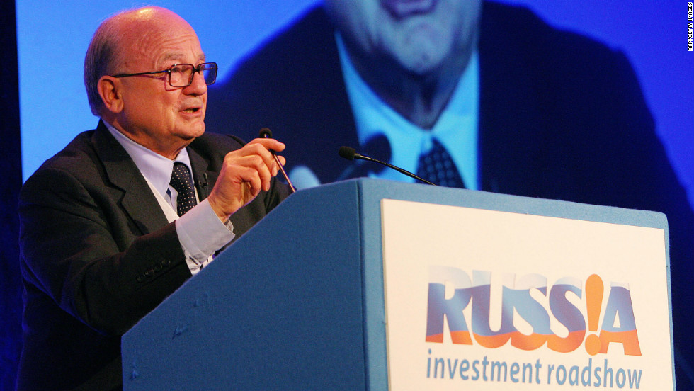 Hans Joerg-Rudloff, chairman of Barclays Capital, at the Russian Economic Forum in London on April 21, 2008. Rudloff is the bank's main powerbroker for Russia, and put in a call to Kerimov's right hand man Allen Vine after the near-fatal crash.