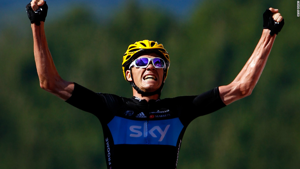 Wiggins' success owes much to the tireless performances of his compatriot, teammate and heir apparent Chris Froome. The Kenya-born rider, who completed a British one-two, won his maiden Tour stage between Tomblaine and La Planche des Belles Filles.