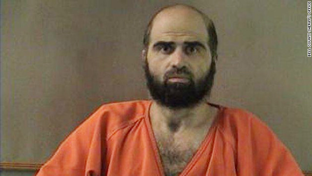 Maj. Nidal Hasan, accused of killing 13 people at Fort Hood in 2009, has been admitted to a Texas Army hospital.
