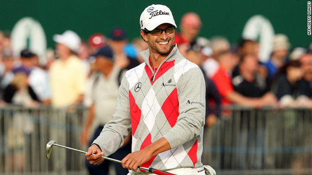 Australia's Adam Scott opened up a four-stroke lead at Royal Lytham & St Annes on Saturday