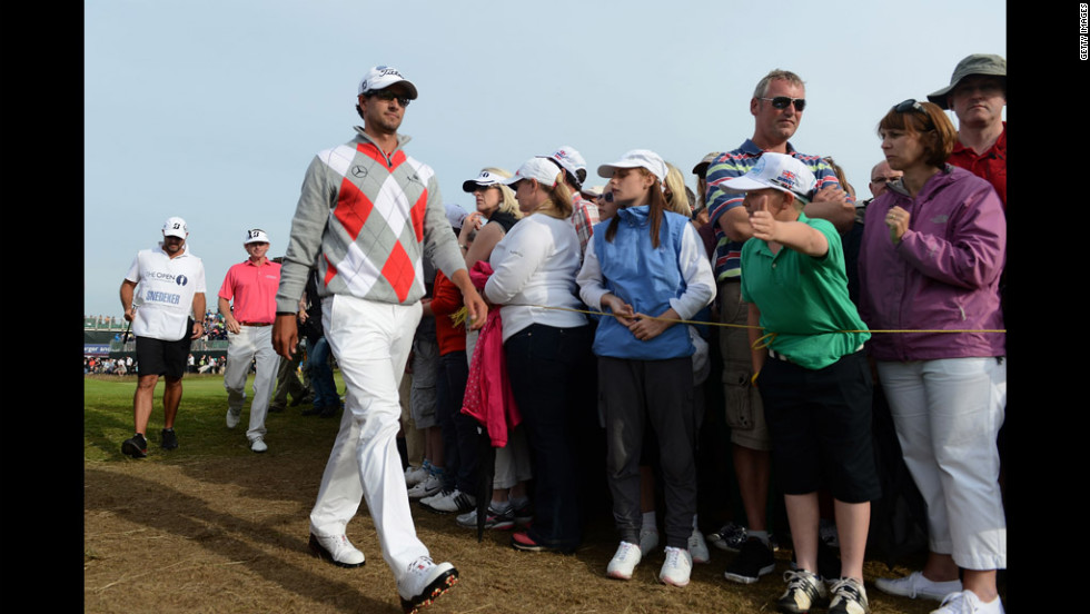 Adam Scott of Australia walks to the 16th tee on Saturday.