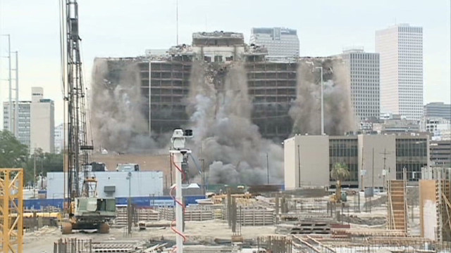 New Orleans Palace Hotel implosion_00001007