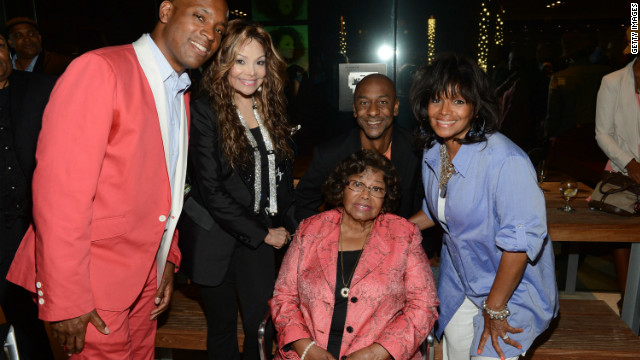 (L-R) Kelly Griffin, LaToya Jackson, Stephen Hill, Katherine Jackson and Rebbie Jackson pose at the 2012 BET Music Matters Showcase held at the Creative Artists Agency on July 2, 2012 in Los Angeles, California.