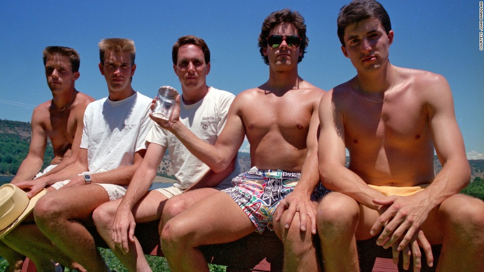 From left to right: John Wardlaw, Mark Rumer, Dallas Burney, John Molony and John Dickson in 1987.