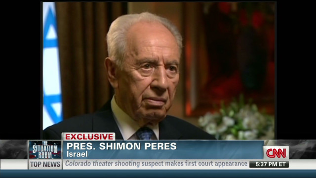 Peres: Iran in 'open war' with Israel