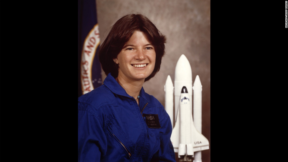 "Ride's official NASA portrait in January 1983. During a 2008 interview with CNN, Ride recalled how the trip to space gave her a new perspective on Earth: ""You can't get it just standing on the ground, with your feet firmly planted on Earth. You can only get it from space, and it's just remarkable how beautiful our planet is and how fragile it looks."""