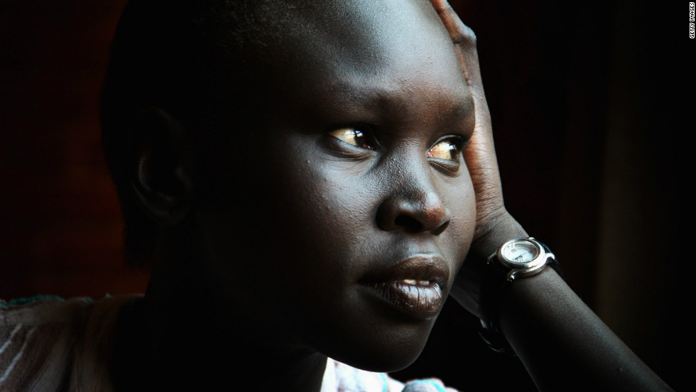 Sudanese-born supermodel goes back to South Sudan, the country she was forced to flee during the civil war.