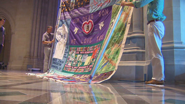 AIDS quilt displays 25 years of memorial