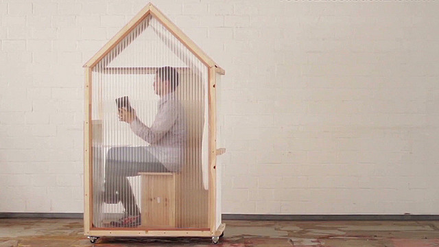 "The ""world's smallest house"" designer says it's meant to make us think about the meaning of ""home."""