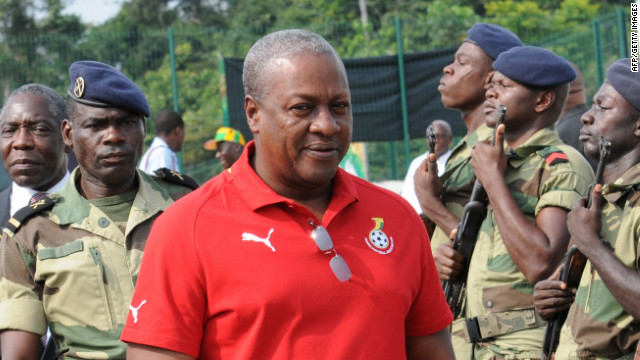 John Dramani Mahama was sworn in as Ghana's new president Tuesday.