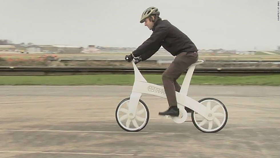 """EADS showcased the technology in 2011, creating the """"airbike"""" -- a working bicycle built from nylon using a 3-D printer."""