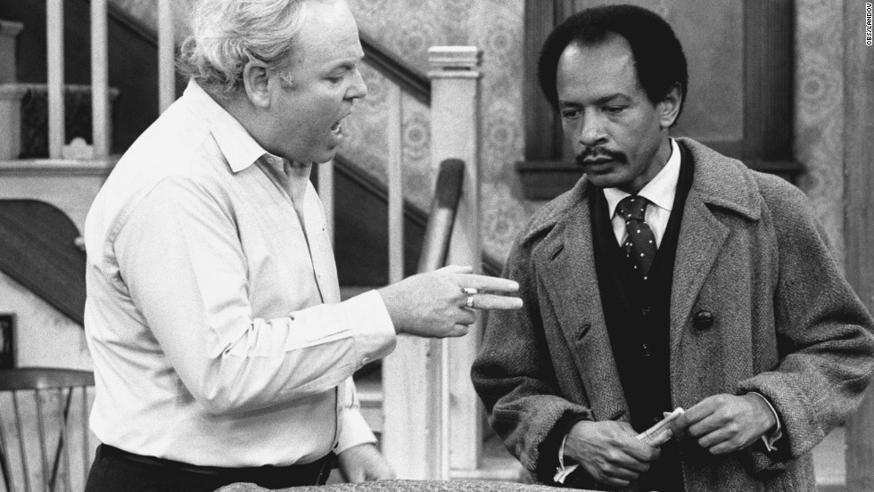 "Carroll O'Connor stars as Archie Bunker and Sherman Hemsley as George Jefferson in an episode of ""All in the Family"" titled  ""Pay the Twenty Dollars."""