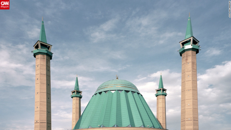 """The architecture of the Mashkhur Jusup Central Mosque in Pavlodar is famed for its similarity in appearance to the Star Wars films character Darth Vader,"" says Josh May who snapped this image in April 2011."