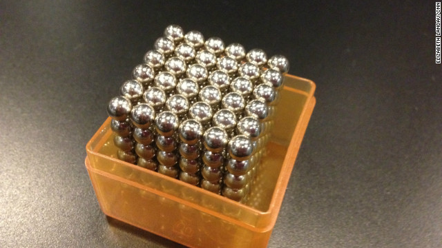 Buckyballs are a  'desk toy' made up of many small magnets.