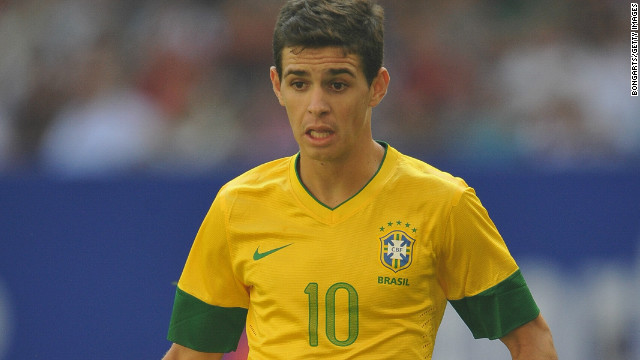 Oscar made his international debut for Brazil in September 2011 and is part of their Olympic squad