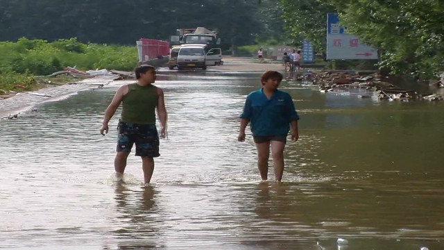 Why did water flood Beijing?