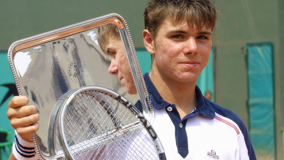 Wawrinka won the 2003 French Open boys' title, just after turning 18, as he beat American Brian Baker in straight sets. Stepping up to the adult circuit ranked as the world's 14th-ranked junior, his decision to quit school aged 15 to focus on his tennis career seemed justified.
