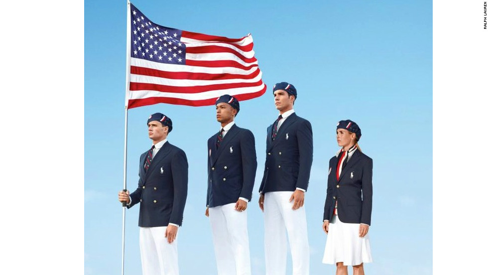 Designed by Ralph Lauren, Team USA's opening ceremony uniforms clearly draw inspiration from the dress uniforms of the U.S. Army and Navy.