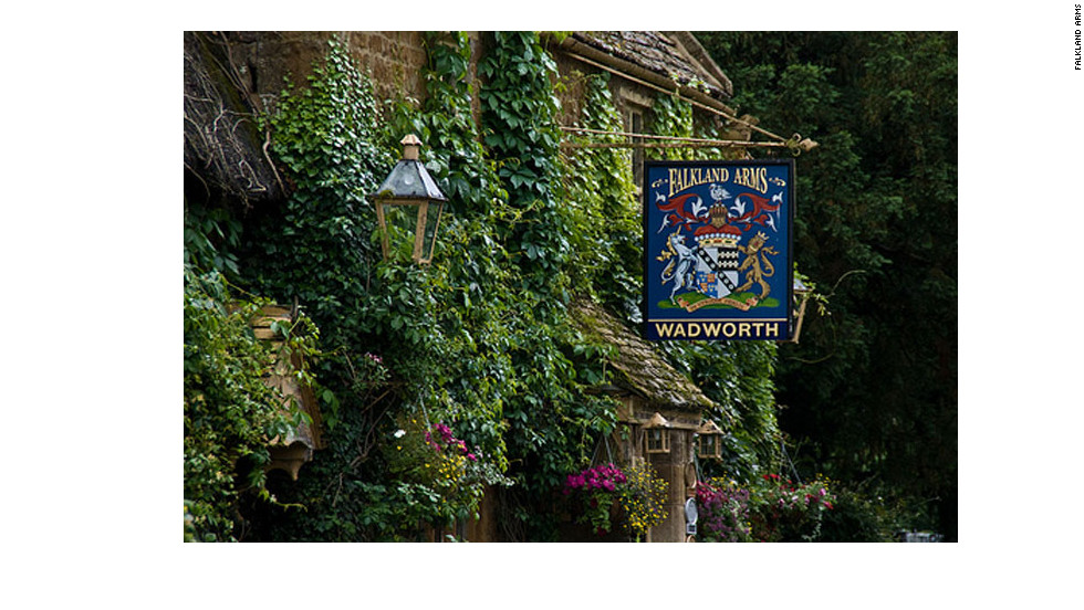 Stop for a pint at the Falkland Arms in Great Tew.