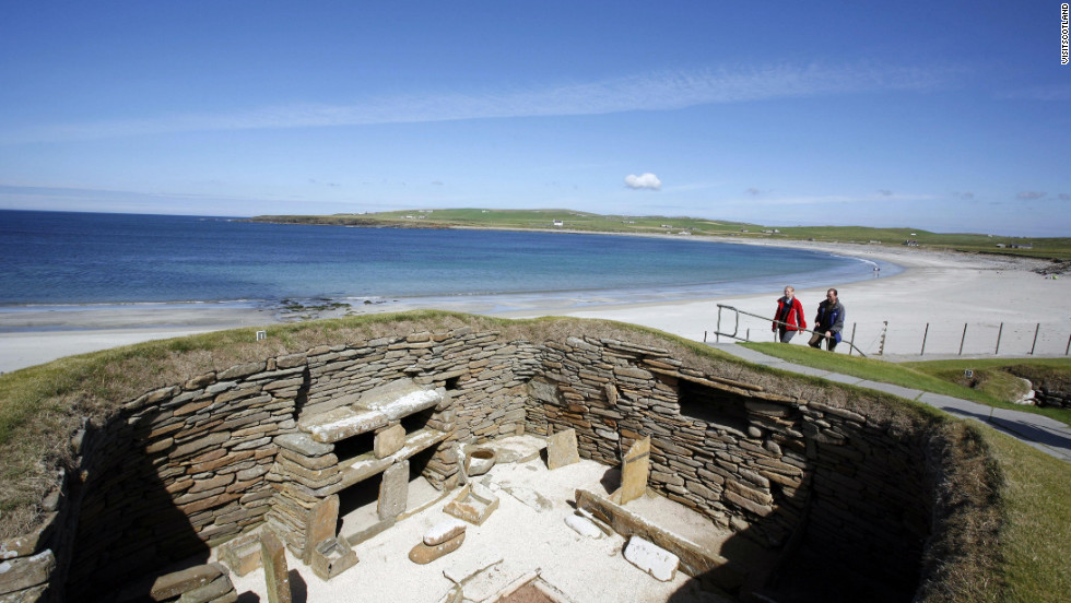The village of Skara Brae was built between 3200 and 2200 BC, predating the Egyptian pyramids.