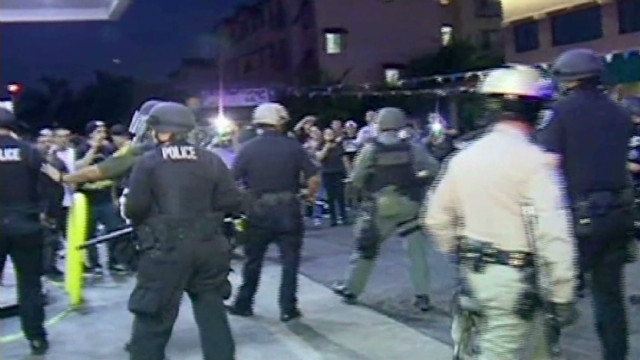 Anaheim erupts after police shooting