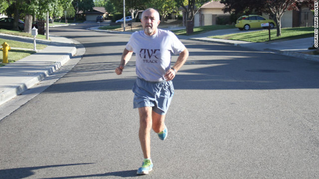Mark Covert, 61, has the longest recorded running streak in the United States.