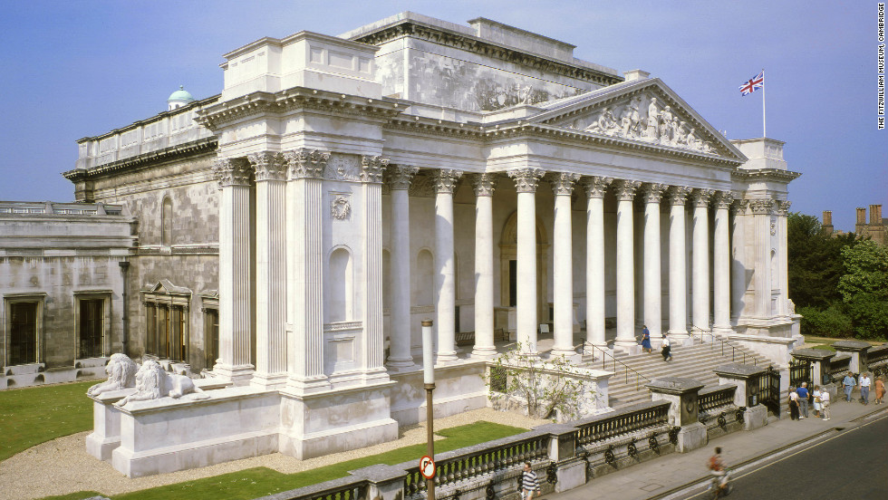 The grand Fitzwilliam Museum's collection includes artifacts from ancient Egypt, Greece, Rome and the Sudan.