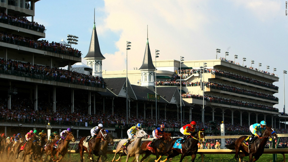 Home of America's most famous race, the Kentucky Derby, Churchill Downs is named after the site's original owners John and Henry Churchill. They leased the land to their nephew Meriwether Lewis Clark Jr. -- grandson of legendary explorer William Clark, one of the first two men to travel across North America. Originally created to replace two earlier, defunct Louisville racecourses, the Downs fast became the nation's most popular track. In 1986 it was designated a National Historic Landmark.