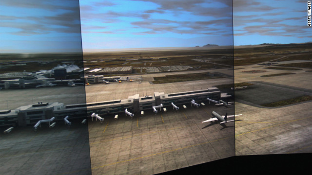 The FAA uses simulators to train air traffic control employess in Denver.