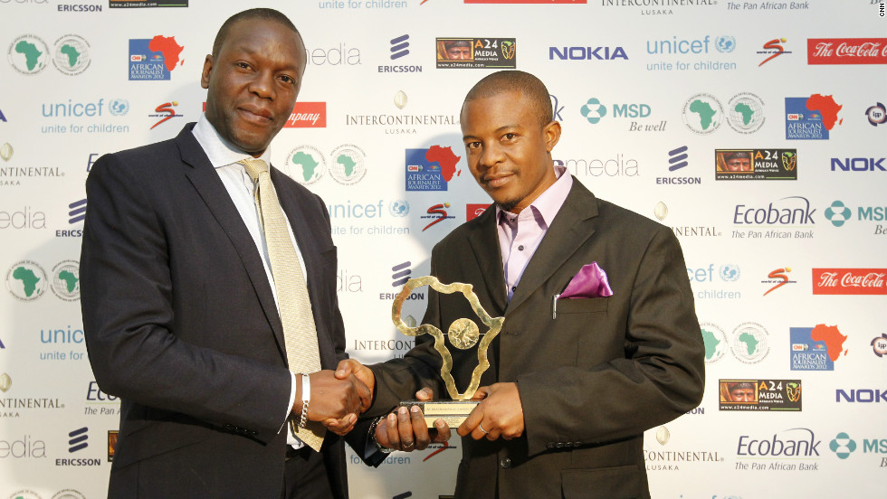 Andrew Mulenga, a freelancer for the Post in Zambia, wins the Arts and Culture Award.