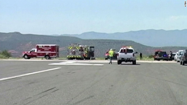 Three people died when a small plane burst into flames in Arizona Thursday.