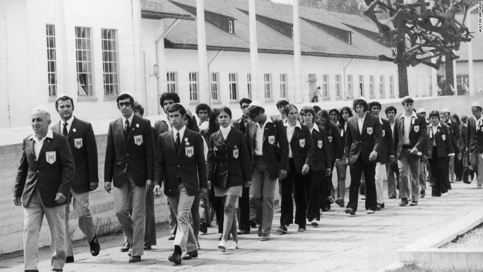 It was particularly poignant for the Israeli Olympic team, many of whom had suffered directly at the hands of the Nazis. The team marked their arrival with a visit to the Dachau concentration camp.